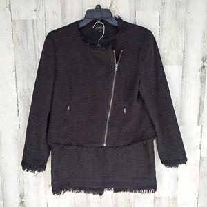 J. Crew Fringe Jacket and Skirt Suit